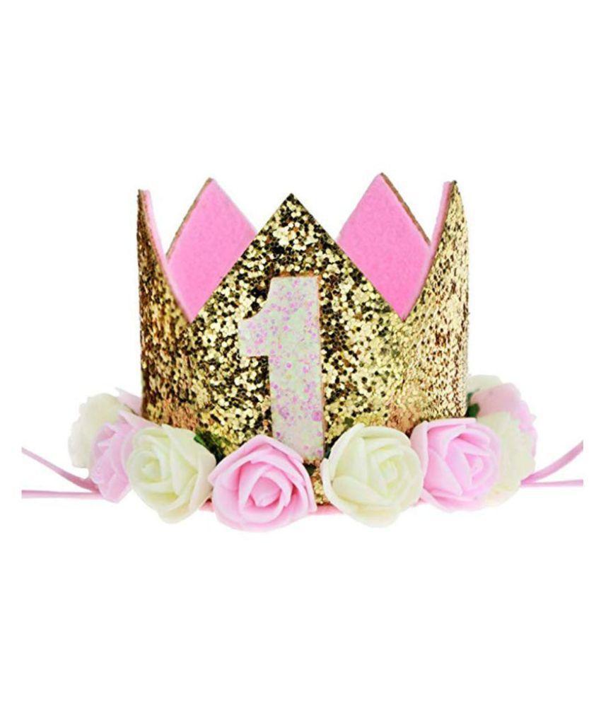 Rose Flower 1St Birthday Hat  Flower Head Band