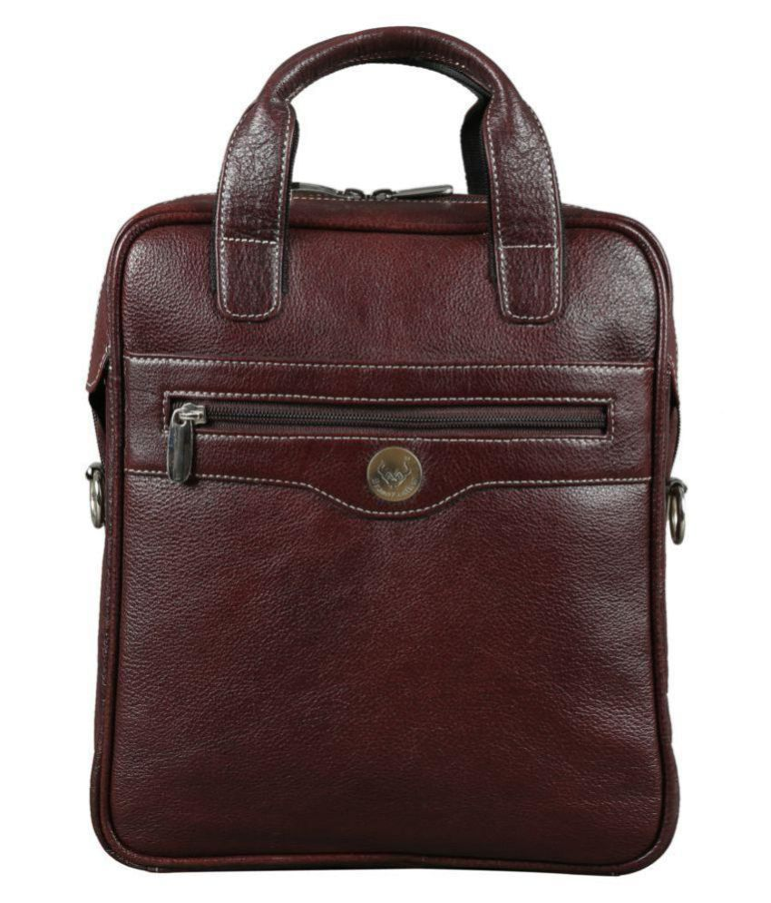 Brand Leather Brown Leather Office Messenger Bag