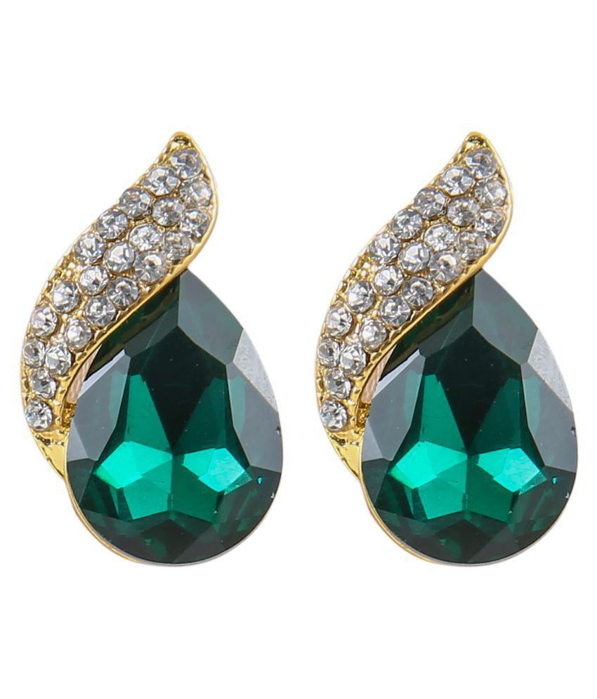 Mizorri  Water Drops Shape Crystal Design Stud Earrings