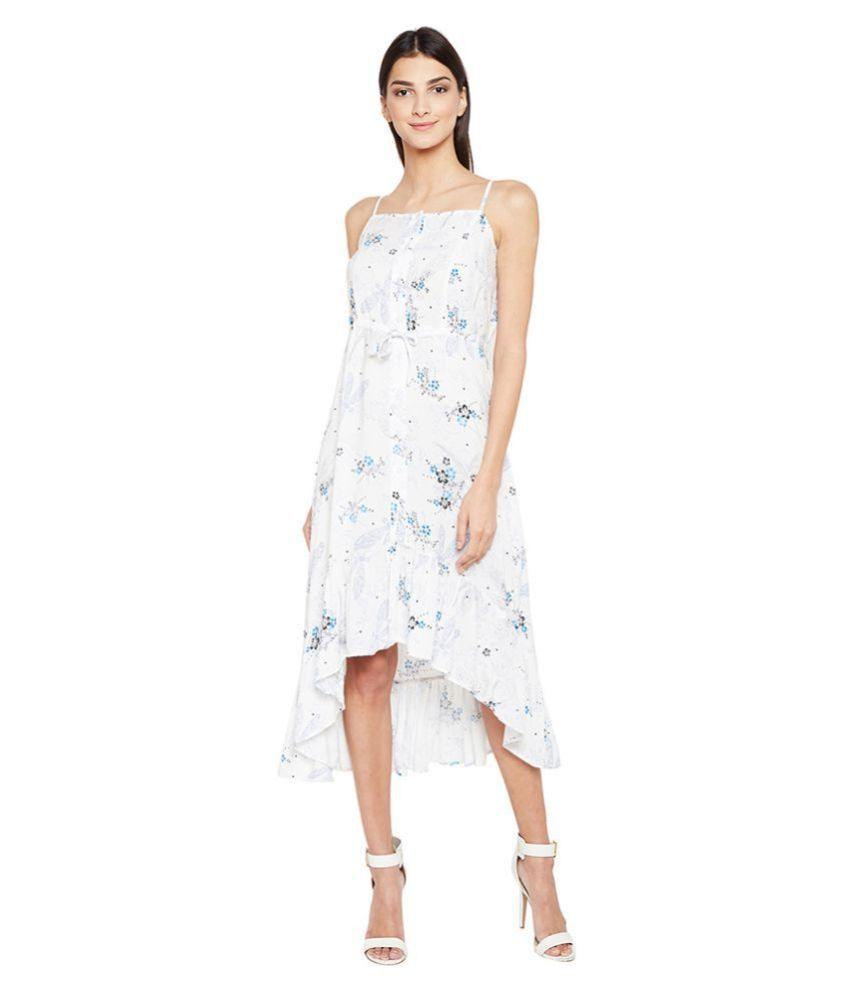 Oxolloxo Viscose Off White A- line Dress