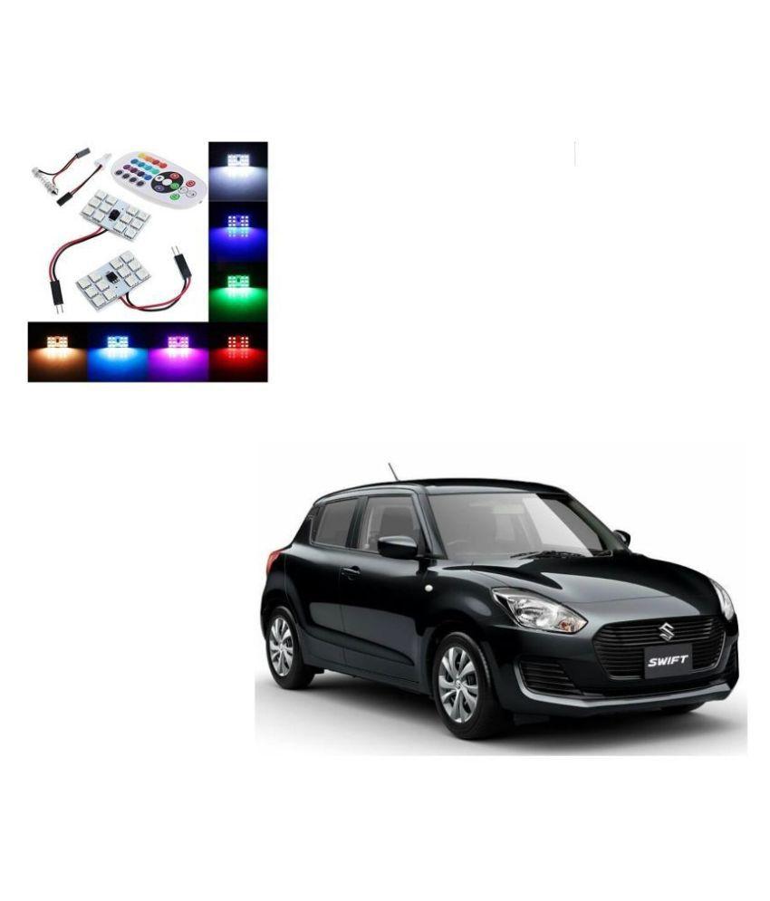 Auto Addict Car 12 LED RGB Roof Light with IR Remote Car Fancy Lights For Maruti Suzuki New Swift 2018