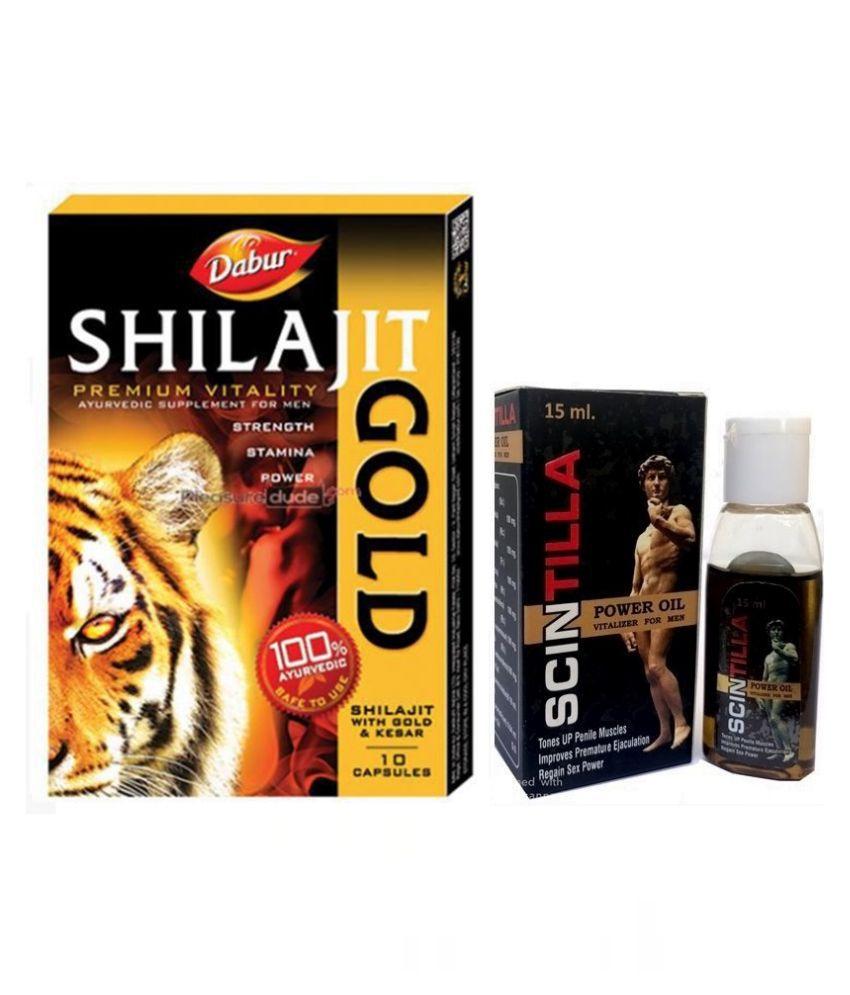 Cackle's Shilajit Gold 10 Caps & Scintilla Power Oil 15 ml