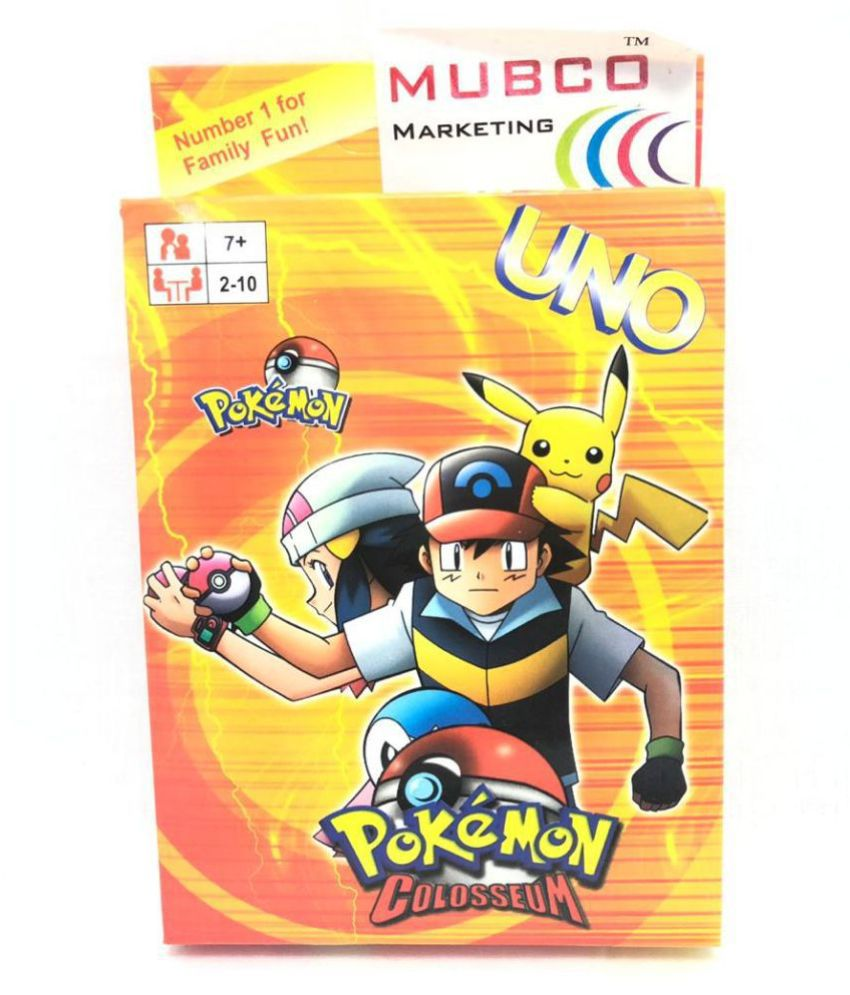 UNO Pokemon) Cartoon Characters Card Game   2-10 Players   108 Cards   Ages 7+
