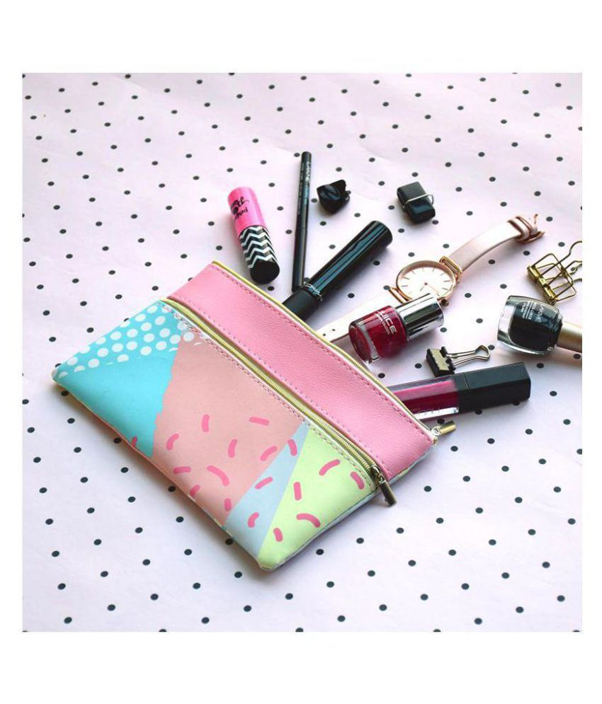 Doodle Pink Cosmetic Pouch