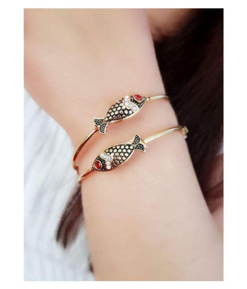 Navya Collections Fish designs Bangles/bracelet set for women