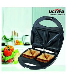 Boss Ultra (B516) , Black 750 Watts Sandwich Toaster