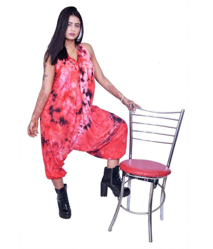 Balaji Garments Red Rayon Jumpsuit