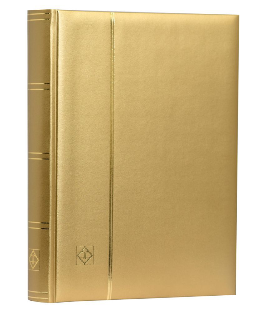 Lighthouse / Leuchtturm Stockbook A4- 64 Black Pages- Padded Metallic Cover- Gold