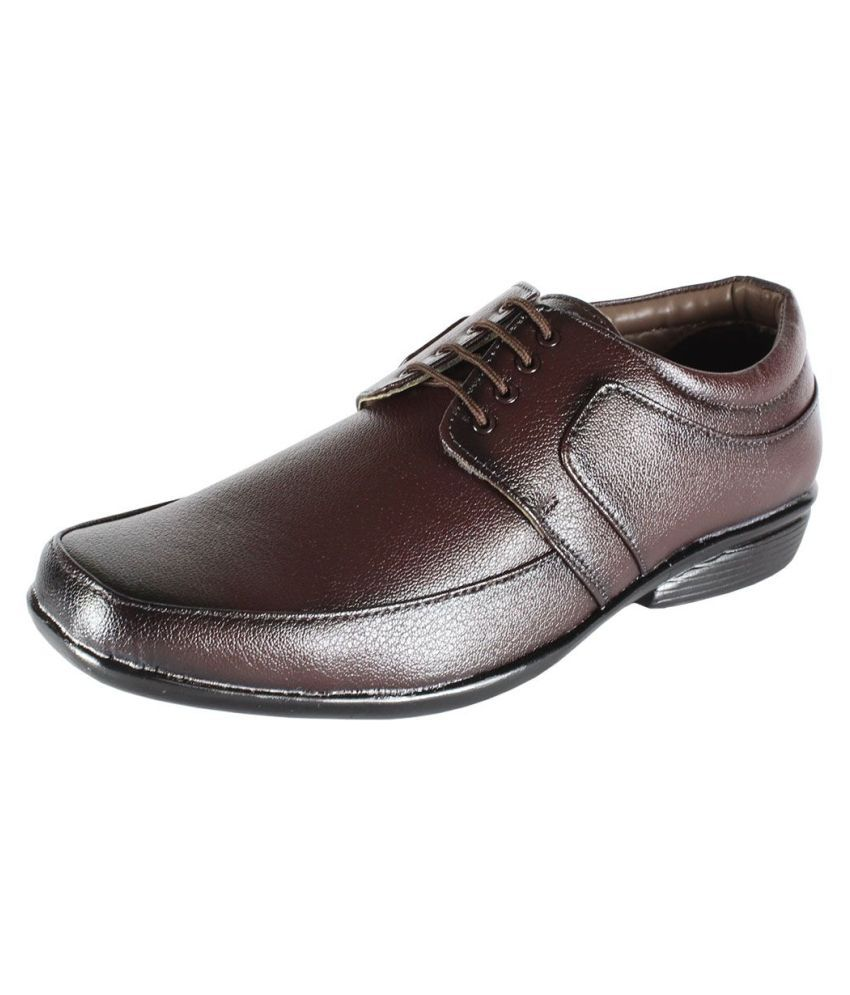 kopps Office Non-Leather Brown Formal Shoes
