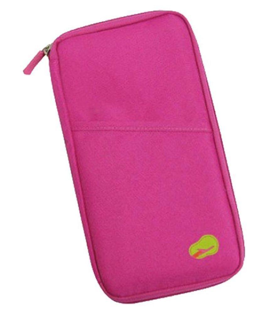 Everbuy Long Nylon Pink Passport Holder