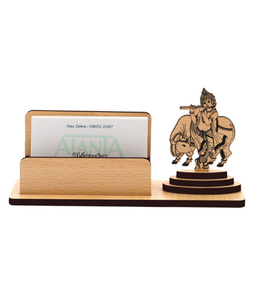 Super Ajanta Lord Krisna, Gokul Mathura wooden card holder 3023