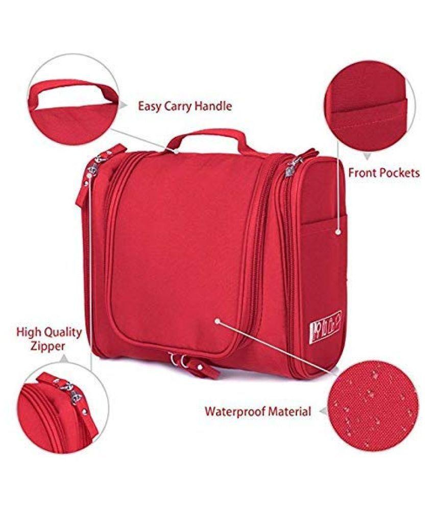 Everbuy Red HIGH Quality Travel Bag Beauty Make up Organiser