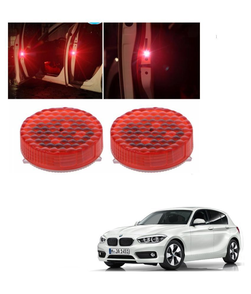 Auto Addict Waterproof 5 LED Wireless Car Door Warning Open Lights Indicator Decor Interior Flash Magnetic car led Lights for Anti Rear-End(RED) Free Batteries (2 Pair 4 pcs) For BMW 1 Series