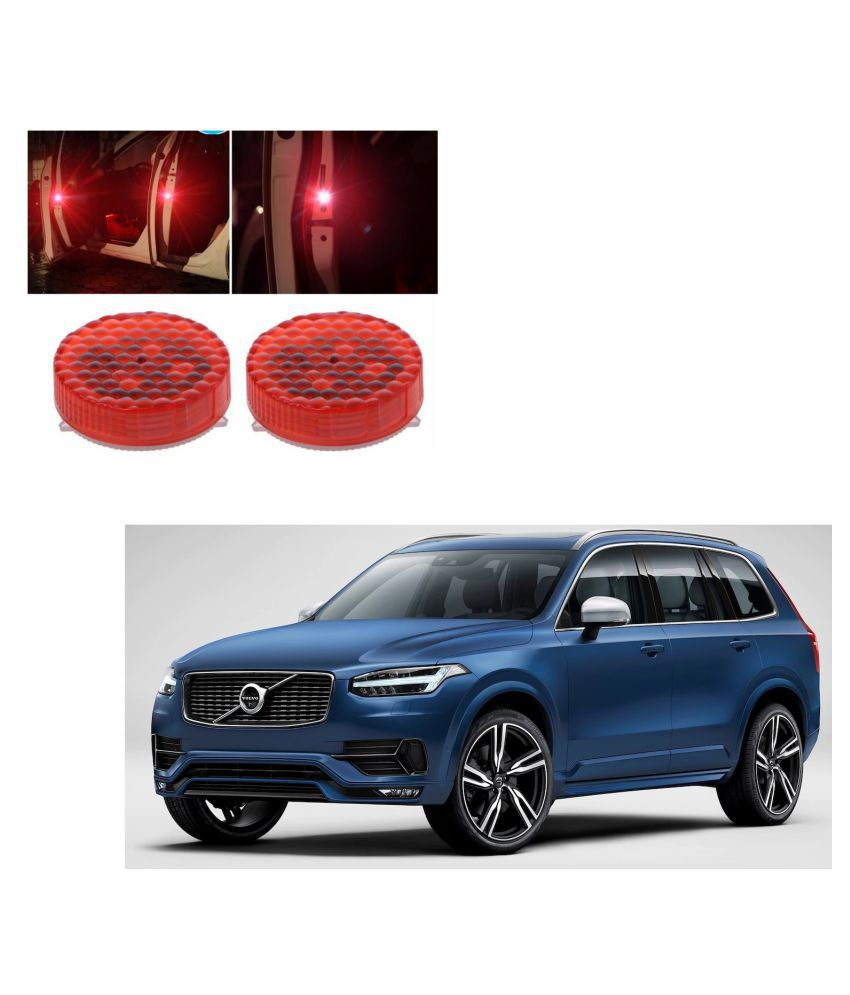 Auto Addict Waterproof 5 LED Wireless Car Door Warning Open Lights Indicator Decor Interior Flash Magnetic car led Lights for Anti Rear-End(RED) Free Batteries (2 Pair 4 pcs) For Volvo XC90