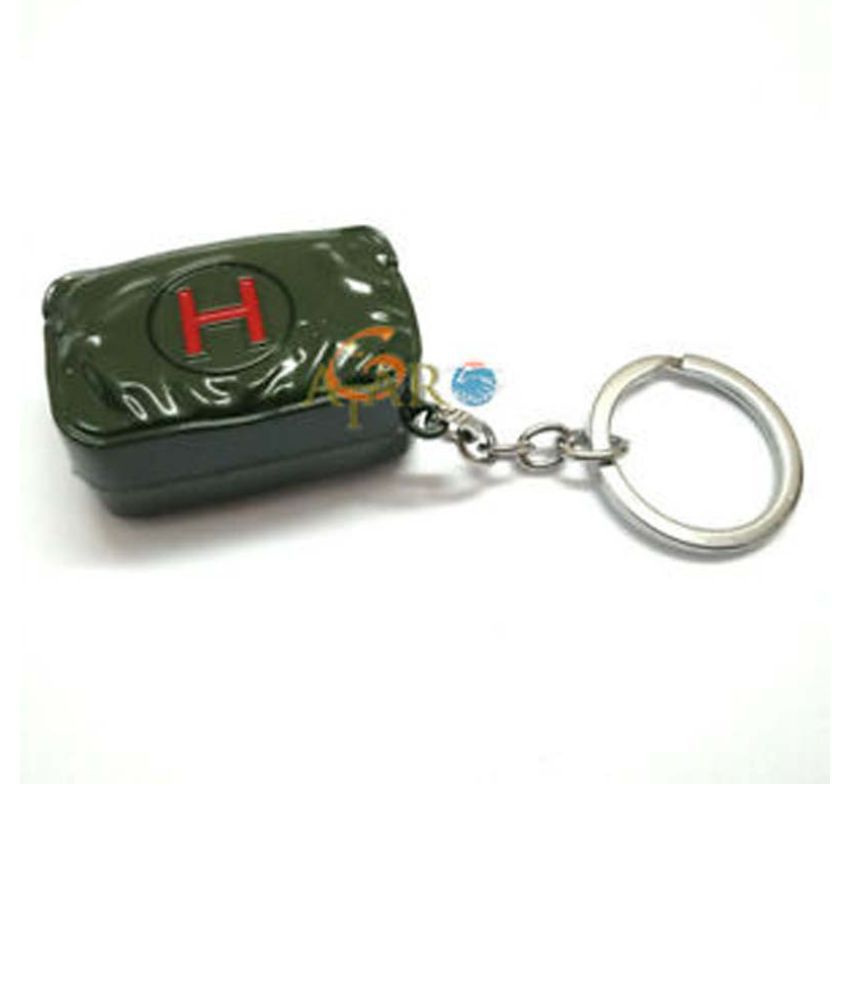 PUBG Players Unknown's Metal Help Kit Key chains and Key rings By OSSDEN ENTEPRISES…