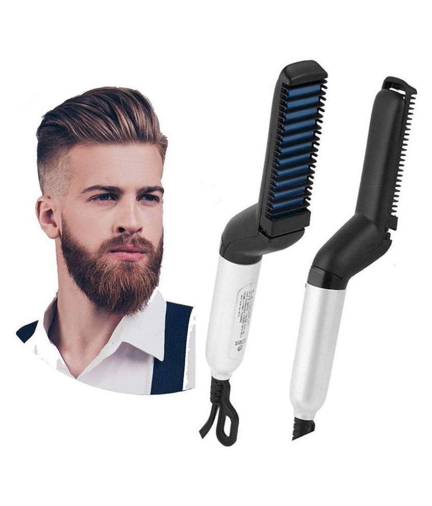 SOFTDARZEE Beard Care Styling Hair Straightener ( White-Black )