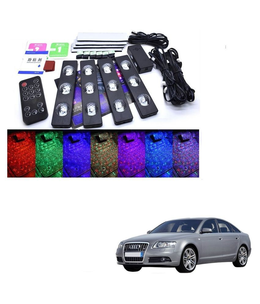 Auto Addict The Starlights Of Car Seat Bottom,7 Colors Lights,Breathing,Voice Ctrl,Create a Different Landscape in The Car For Audi A6