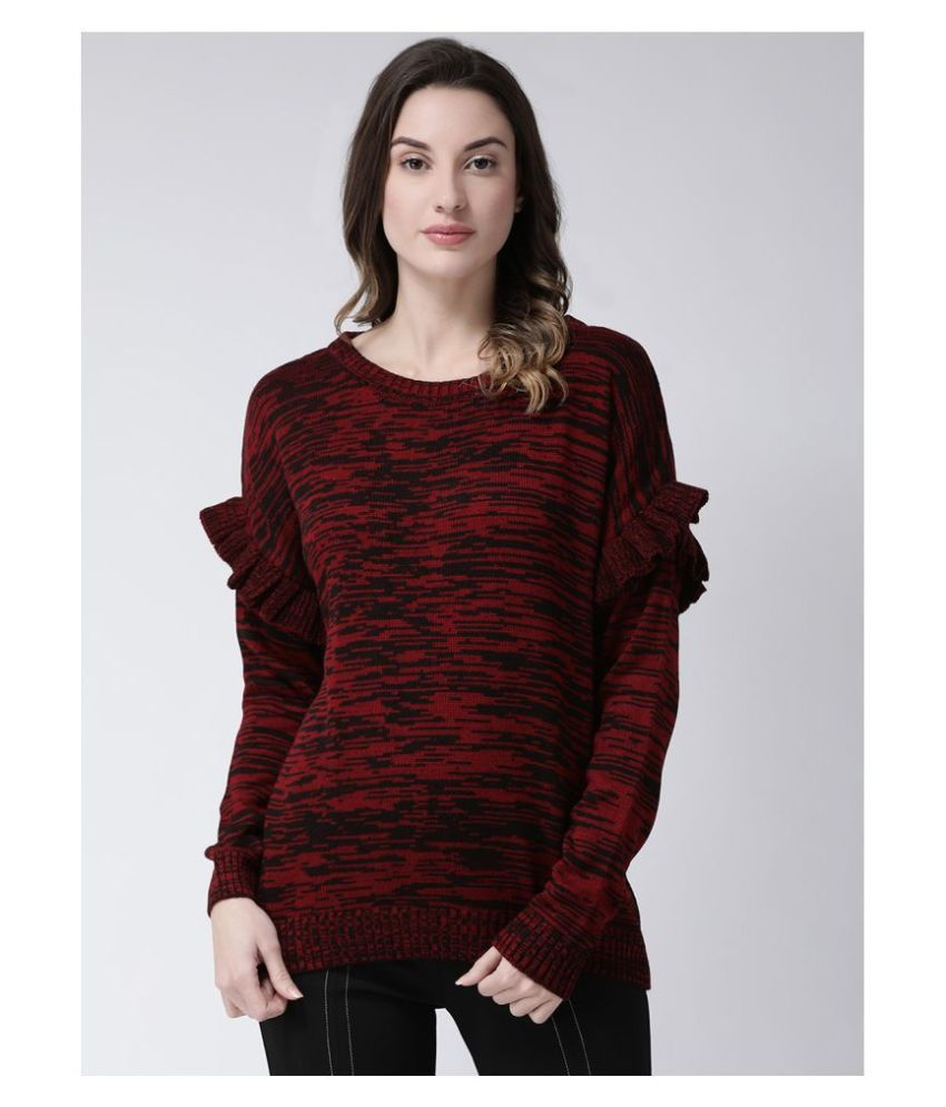 Club York Acrylic Red Pullovers