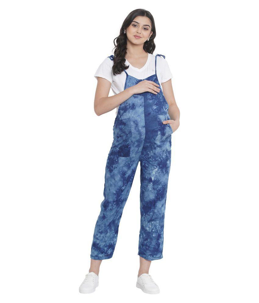 Mine4nine Blue Rayon Jumpsuit