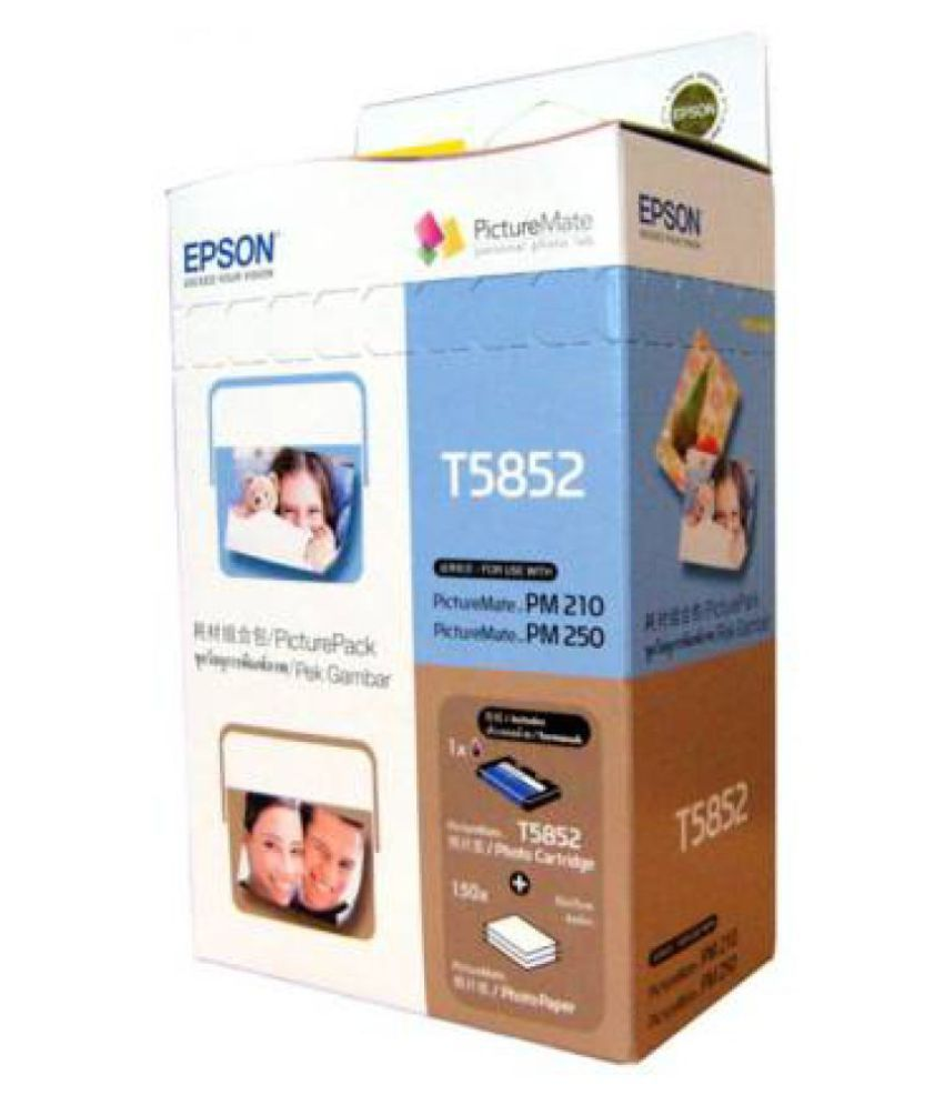 intop Epson T5852 Multicolor Single Cartridge for With 3 Packet Photo Paper Use For Epson Printer PM210, PM215, PM235, PM245, PM250, PM270, PM310