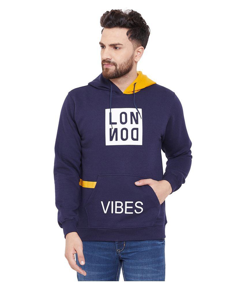 Canary London Navy Hooded Sweatshirt
