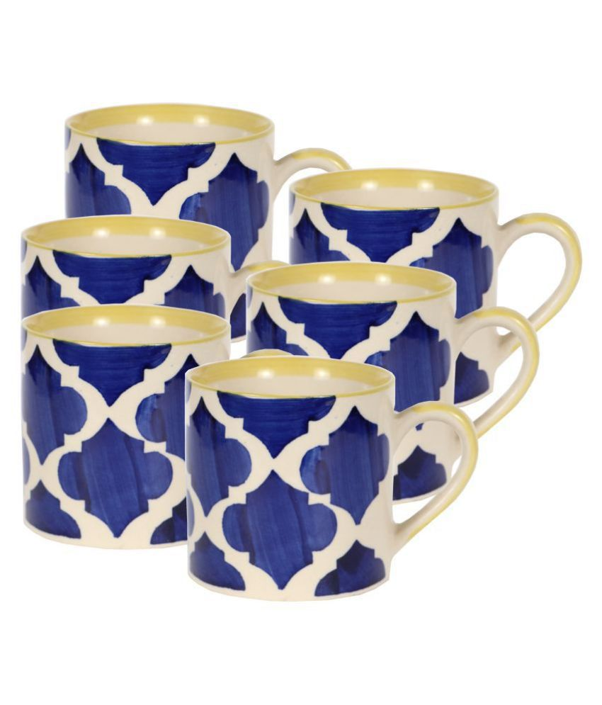 hindustani saudagar Ceramic Tea Set 6 Pcs 180 ml