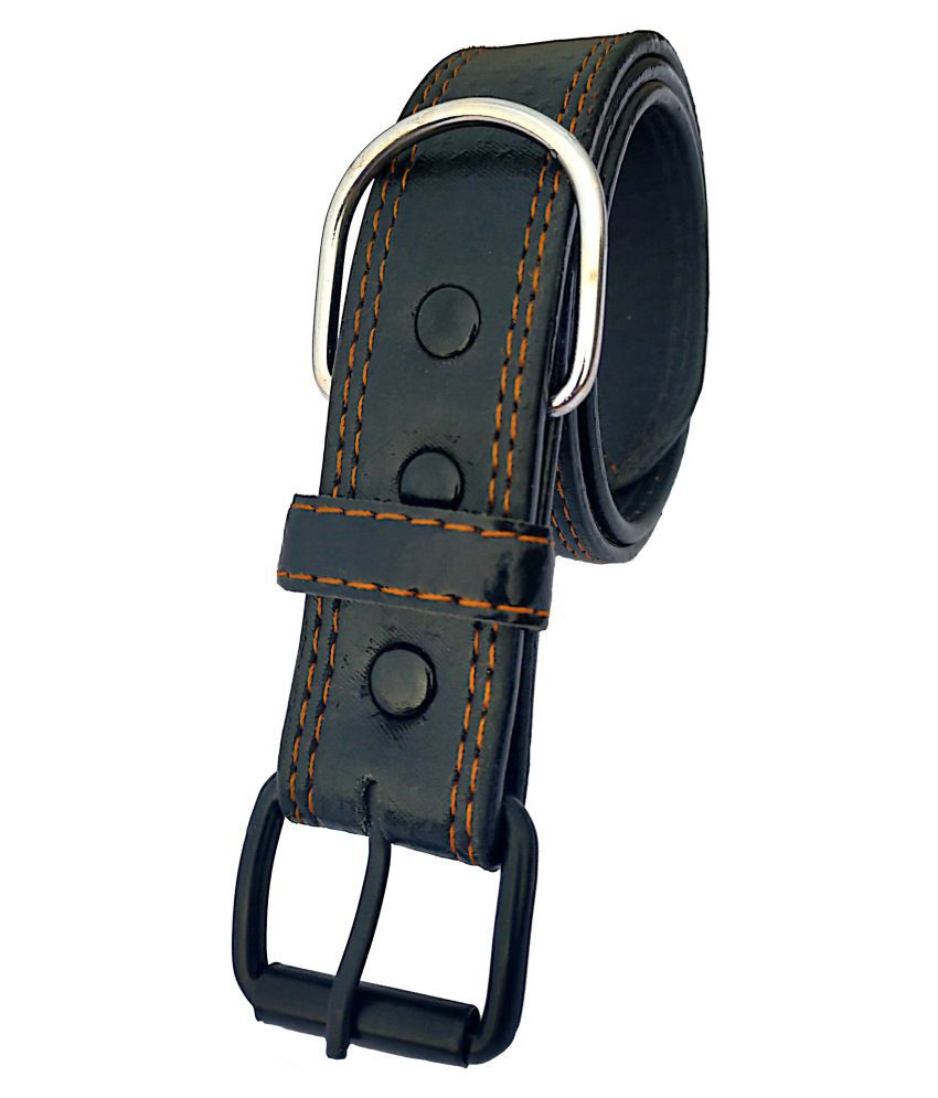 Forever99 Pet Shop Leather Dog Collar Neck Belt for Small, Dogs (Black}