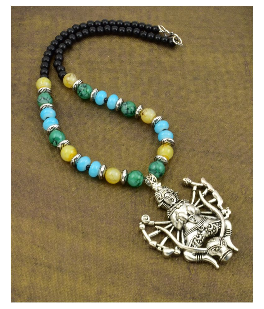 High Trendz Alloy Green Statement Contemporary/Fashion Antique Necklace