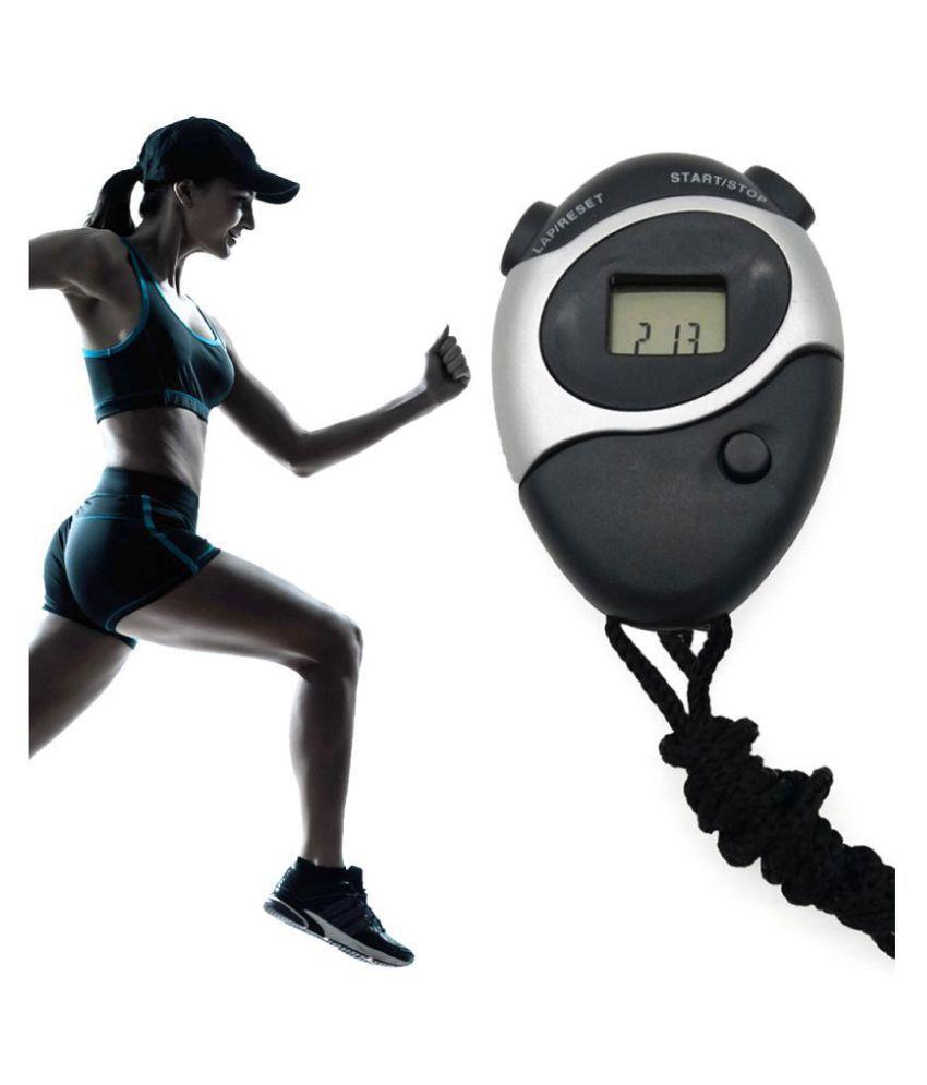 SJ Plastic Black Stopwatch One Size