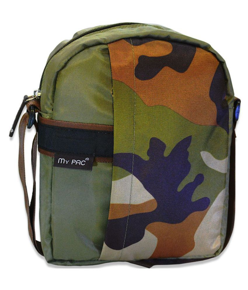 My Pac DB Khaki Polyester Casual Messenger Bag