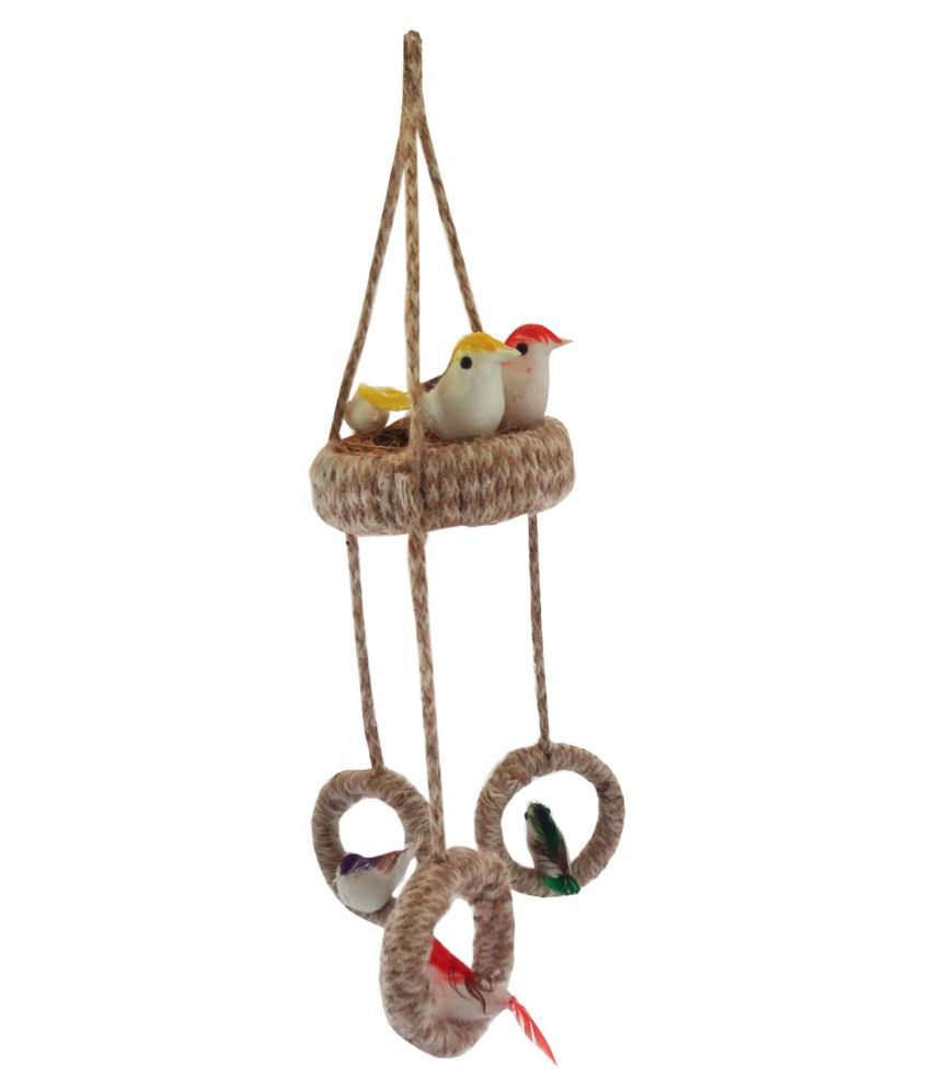 STE Jute Bird Nest Decorative Cage Beige - Pack of 1