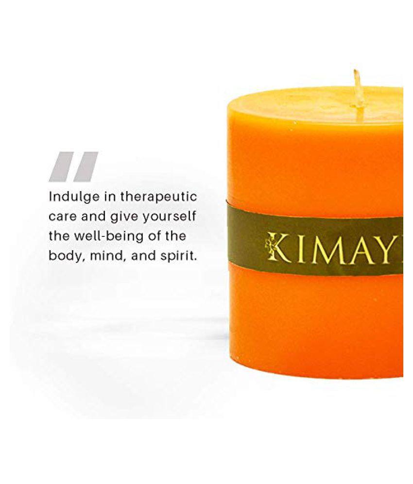 Kimayra World Orange Pillar Candle - Pack of 1