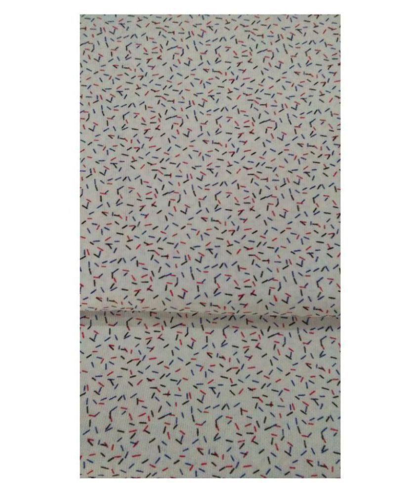 NS Fabric Multi Cotton Blend Unstitched Shirt pc