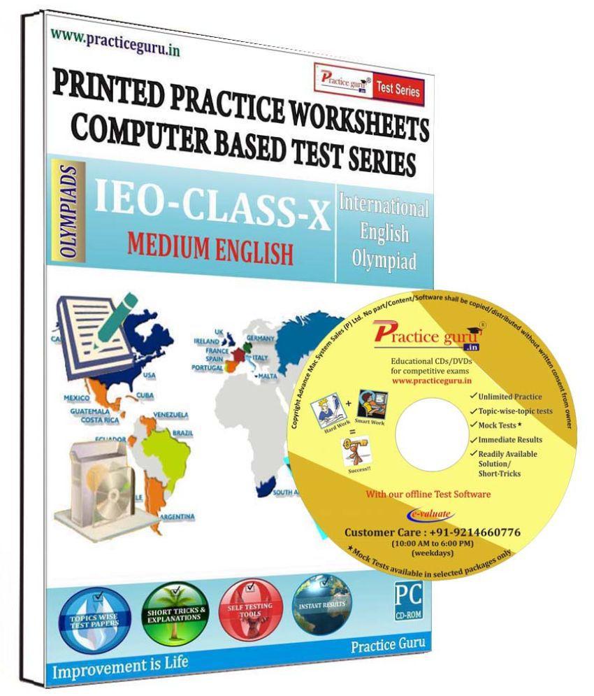 Practice Guru 29 Test 2 Mock Test,10 Previous Year Paper,10 Worksheet (Printed) for 10 Class IEO Exam  CD