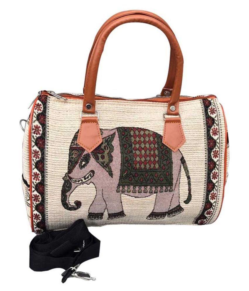 Craferia Export Beige Cotton Handbags Accessories