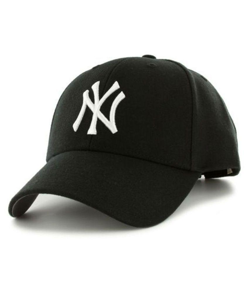 MSC Black Embroidered Cotton Caps
