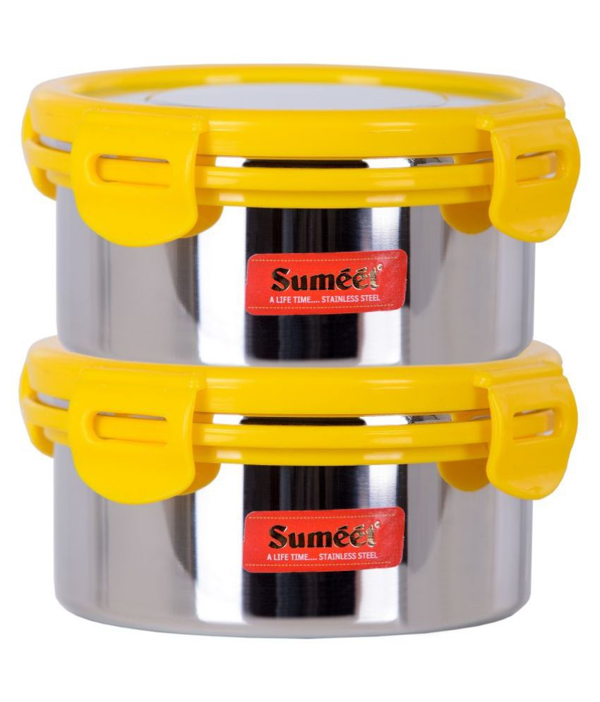 Sumeet Stainless Steel Food Container Set of 2 460 mL