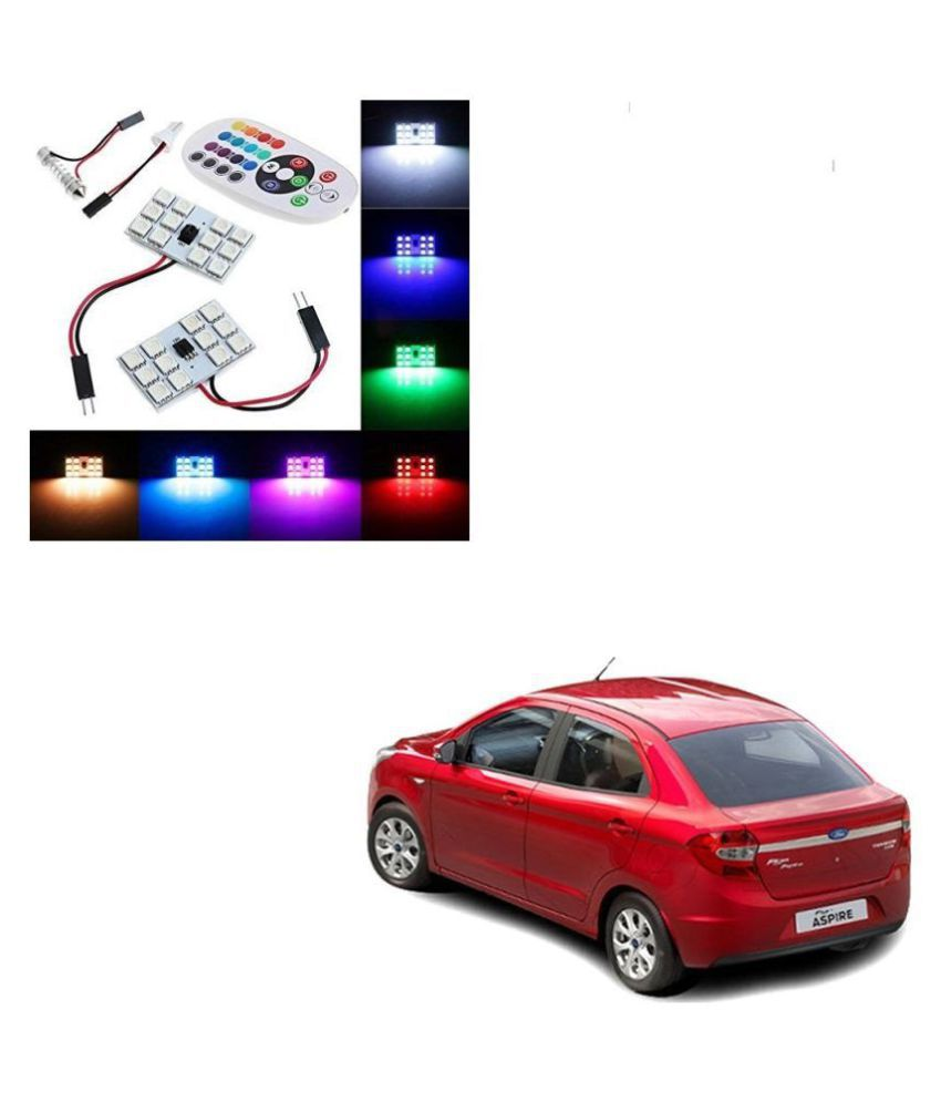 Auto Addict Car 12 LED RGB Roof Light with IR Remote Car Fancy Lights For Ford Figo::Aspire