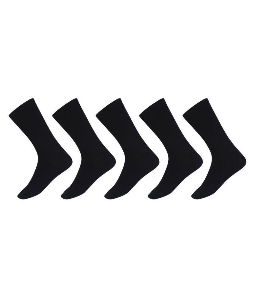 SIDEWOK Black Formal Full Length Socks Pack of 5