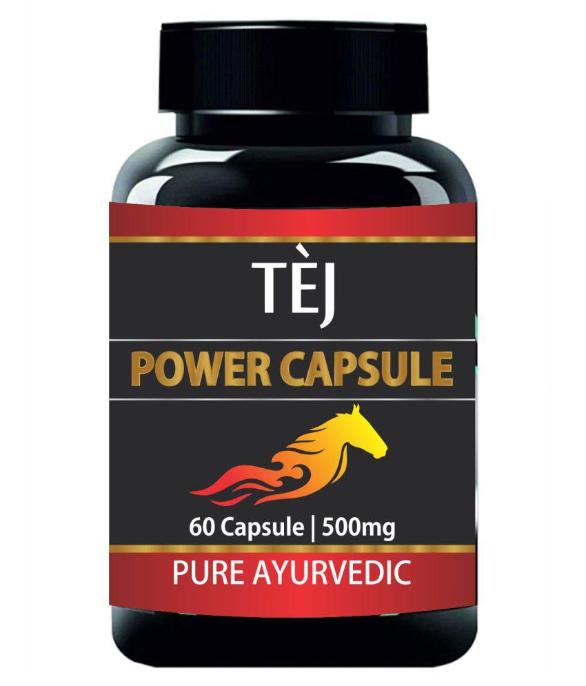 Tej POWER CAPSULE FOR STAMINA & STRENGTH  60 Capsule 500 mg Pack Of 2