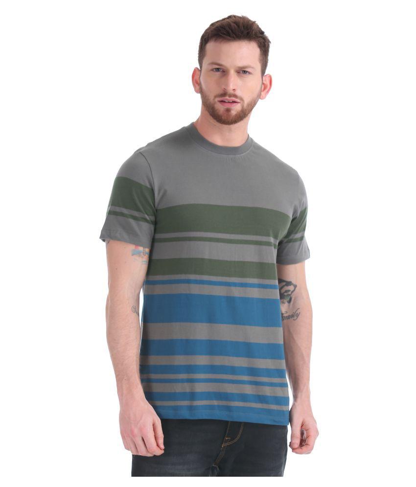 Cherokee 100 Percent Cotton Grey Striper T Shirt