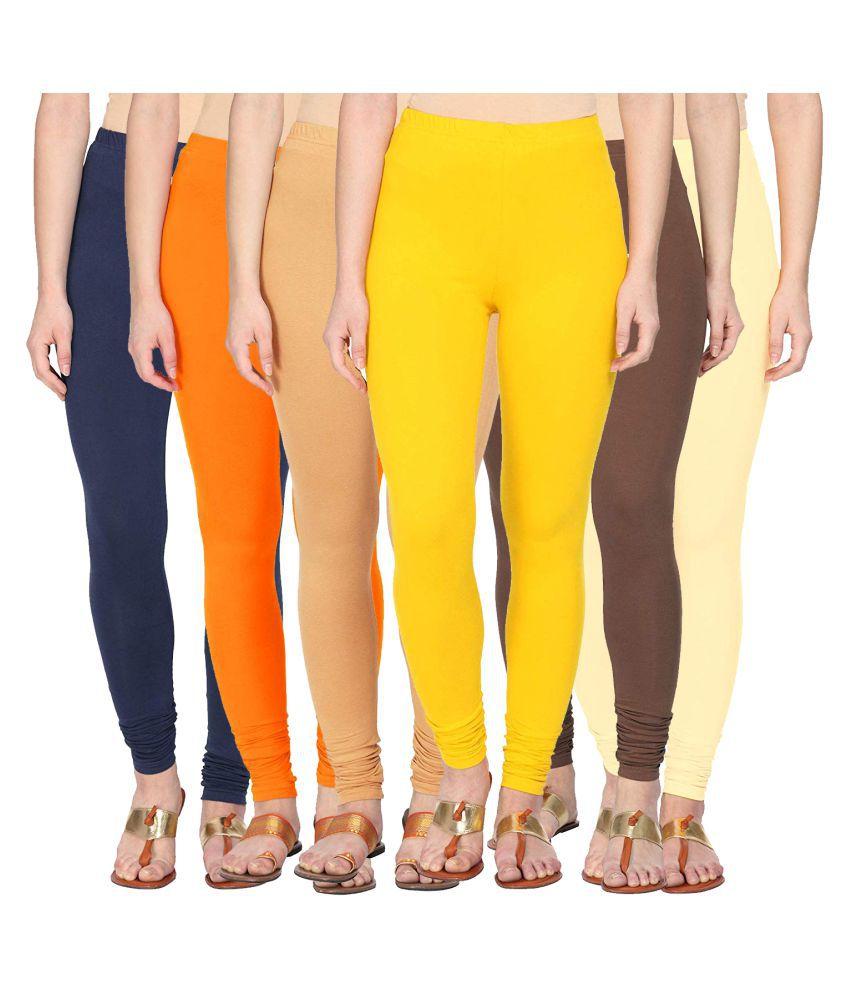 Style Pitara Cotton Lycra Pack of 6 Leggings