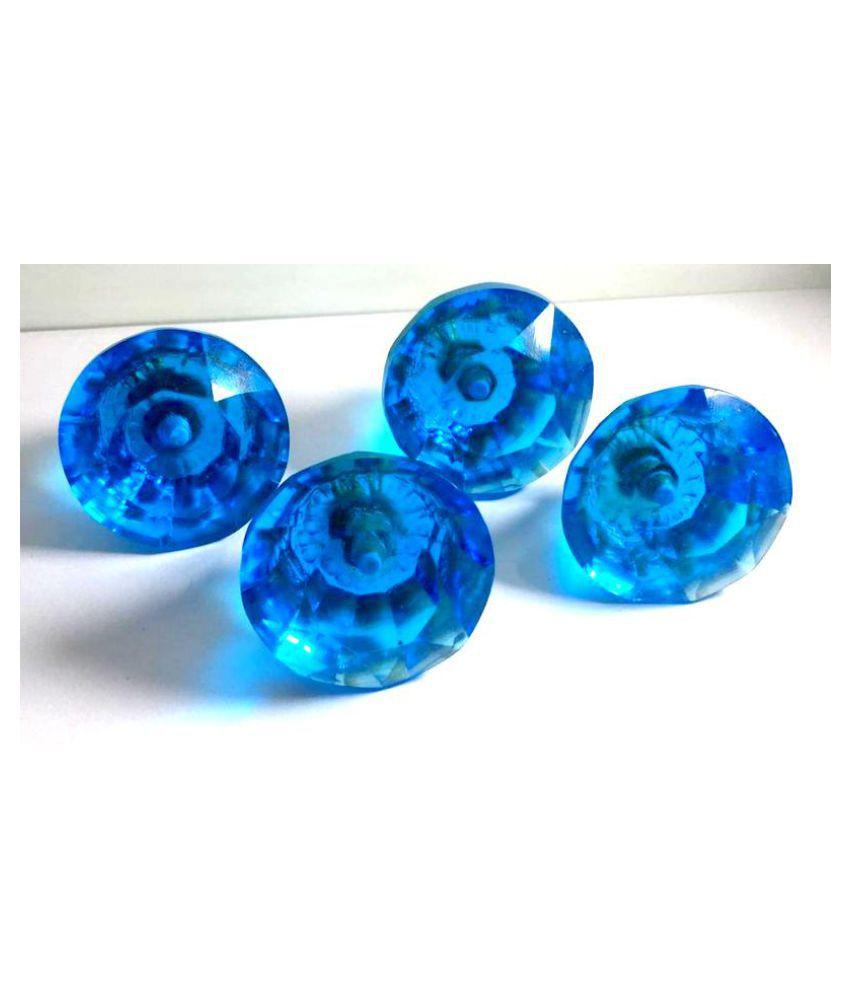 Diamand Blue Crystal Glass Door Knobs Cupboard Drawer Cabinet Handles