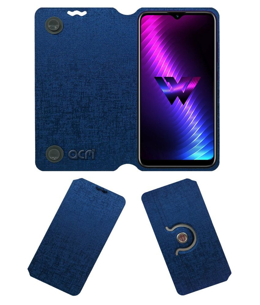 LG W30 Pro Flip Cover by ACM - Blue Dual Side Stand