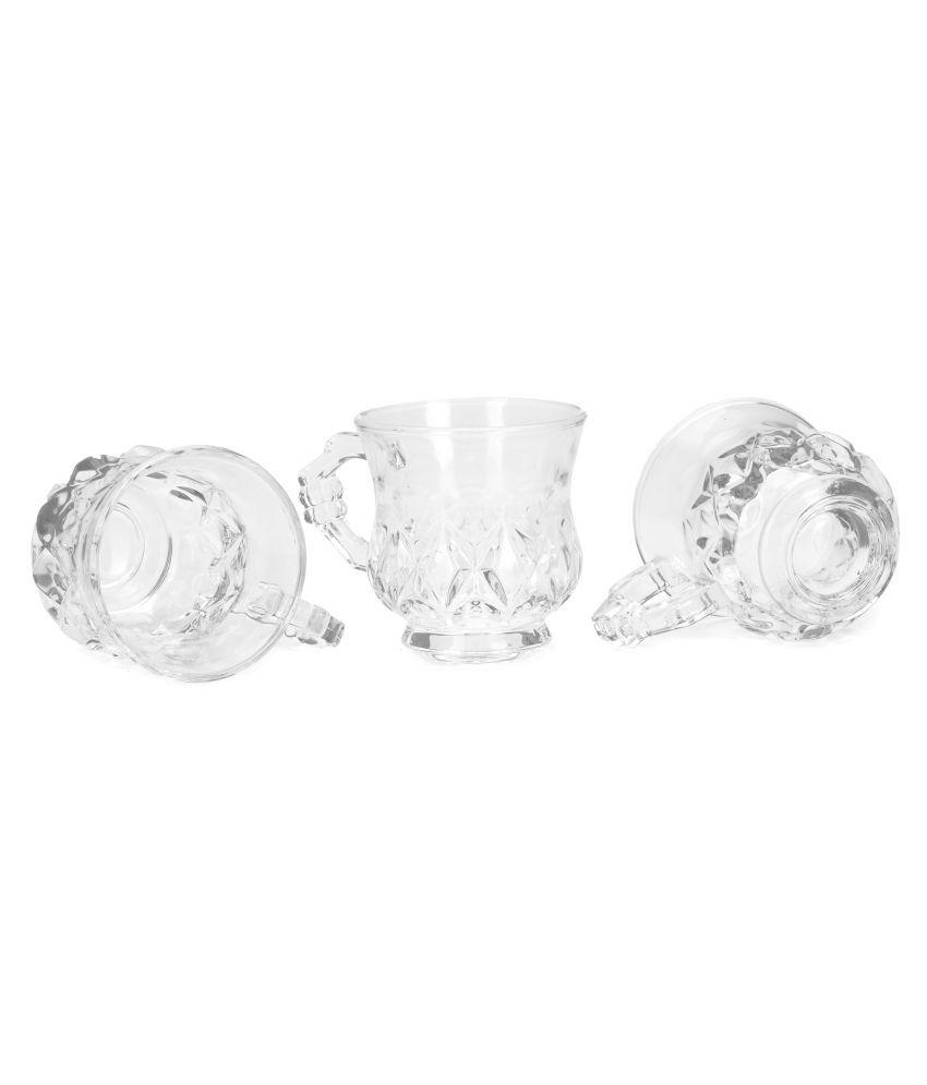 AFAST Glass stylish cup set Tea Cup 3 Pcs 150 ml