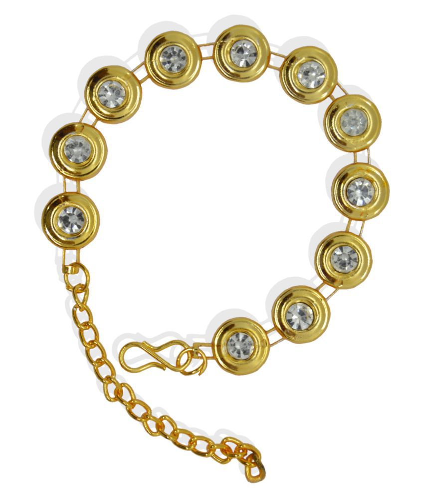 j. j. jewellers Diamond Gold Plated Bangles for Women and Girls