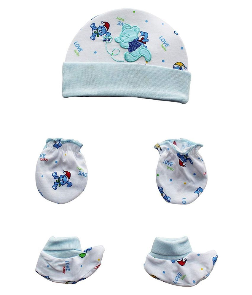 Gouravsumana Baby Boys and Baby Girl's Soft Cotton Cap ( Multicolour ; Pack Of 1 ) 0-3 Months