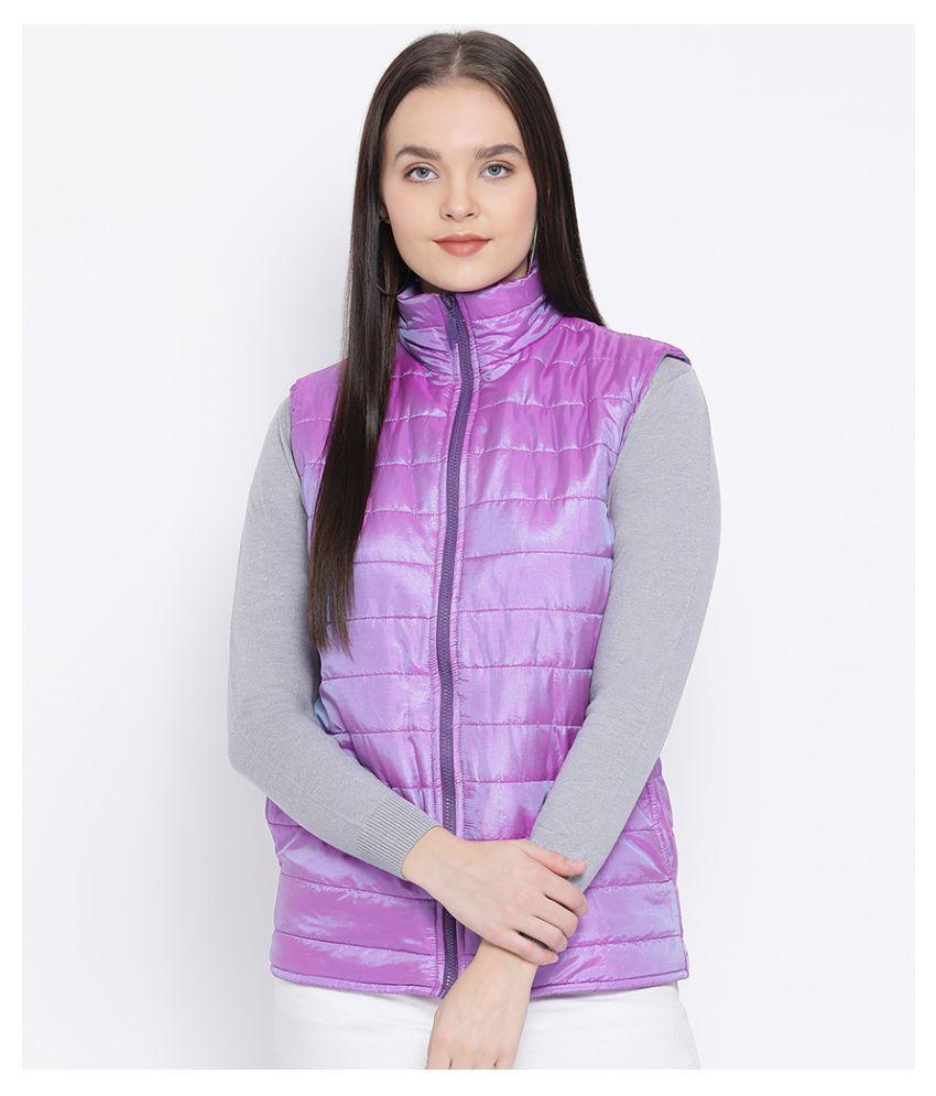 Oxolloxo Polyester Purple Bomber Jackets