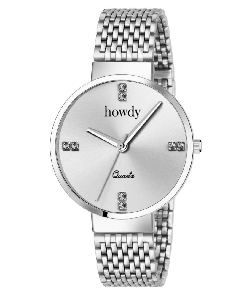 howdy Stainless Steel Round Womens Watch