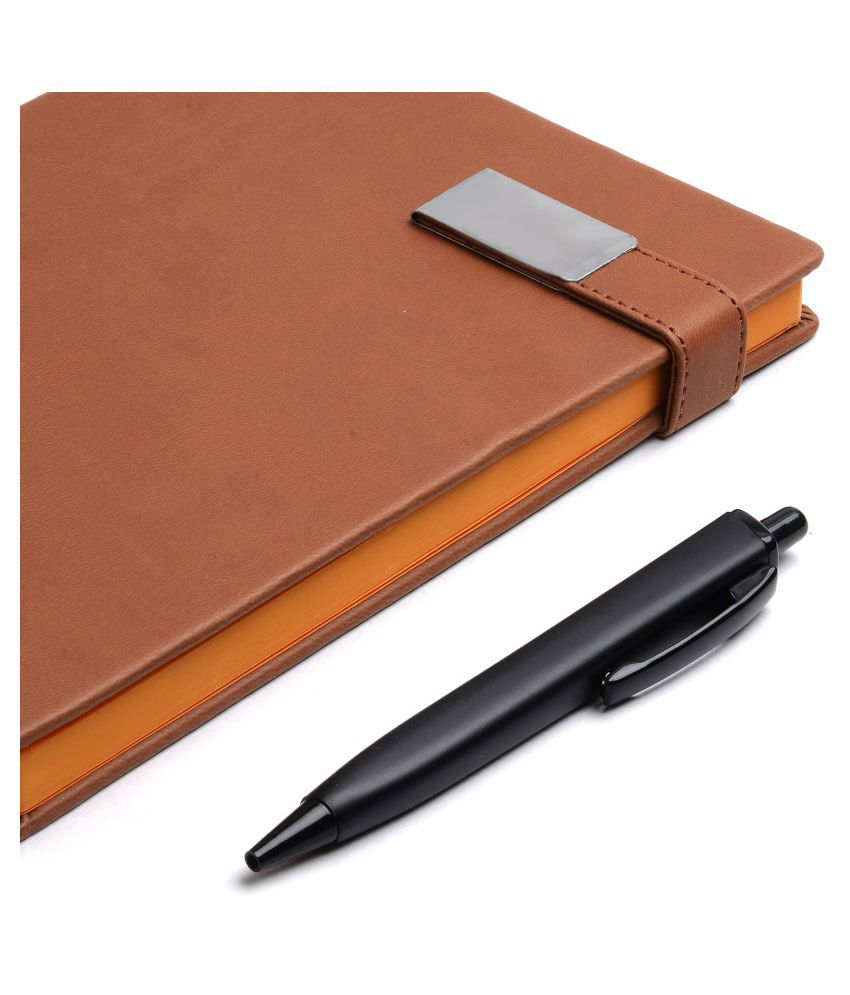 COI DIARY TAN BROWN UNDATED PLANNER - Vintage Style A5 Travel diary for an awesome friendly kids for office going boys and girls with Pen Magnetic Lock.